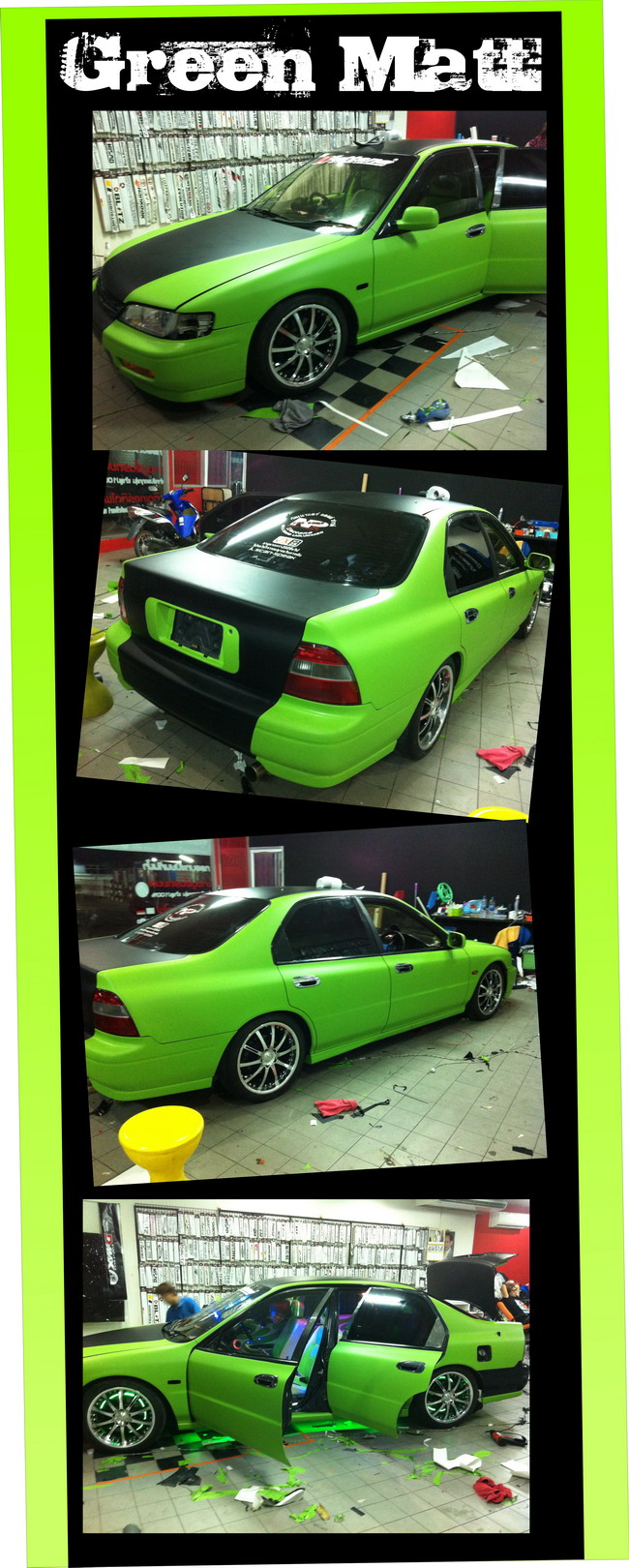 car wrap green