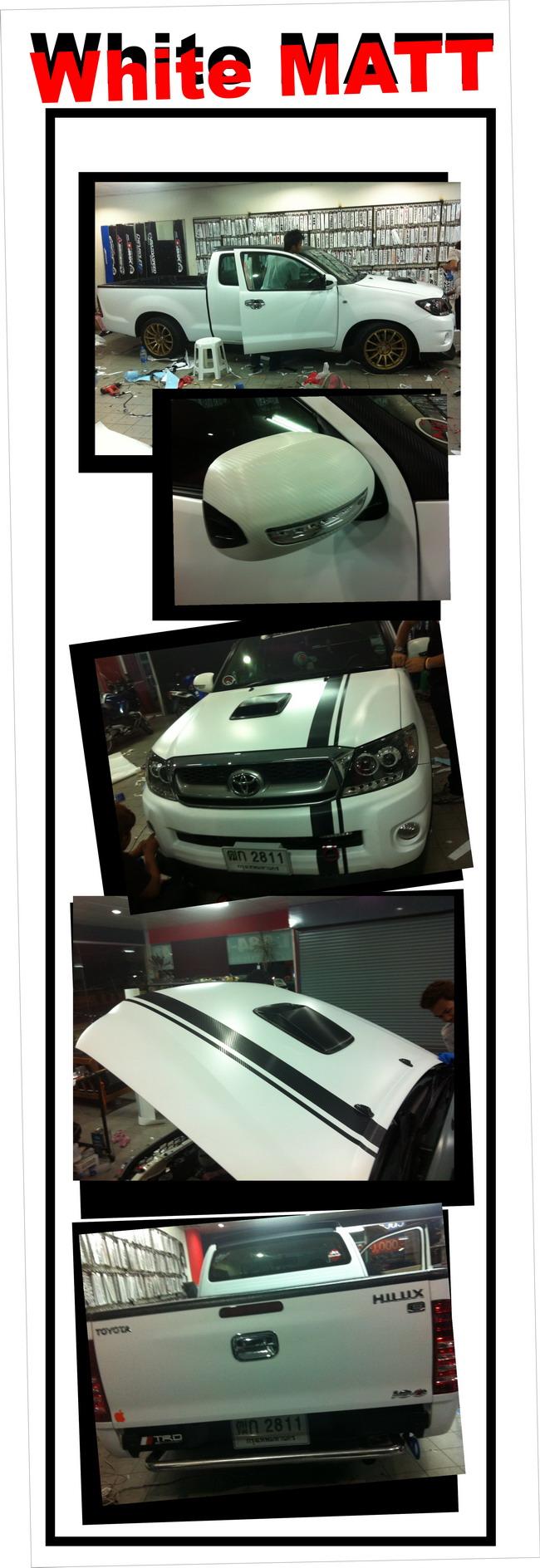 car wrap vigo wrap car ฟิล์มหุ้มเปลี่ยนสีรถ เปลี่ยนสีรถทั้งคันด้วยสติกเกอร์ wrapเปลี่ยนสีรถ เปลี่ยนสีรถดำด้าน