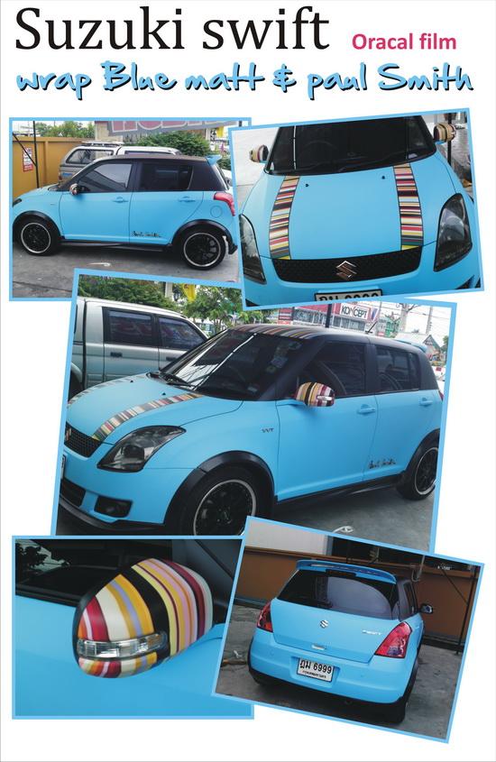 car wrap หุ้มเปลี่ยนสีรถ เปลี่ยนสีรถด้วยฟิล์ม