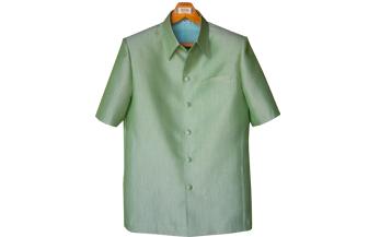 เสื้อผ้าฝ้ายลายลูกแก้วสีเขียวอ่อน