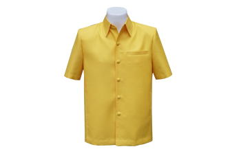 เสื้อผ้าฝ้ายลายลูกแก้วสีเหลือง