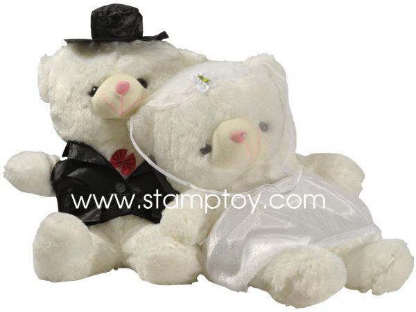 ตุ๊กตาหมีนำเข้า หมีผู้ชายกับหมีผู้หญิงแต่งงานกัน