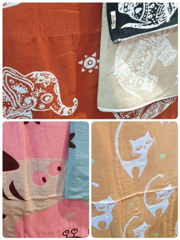 ผ้าเช็ดตัวผ้าสาลูทอ3ชั้น