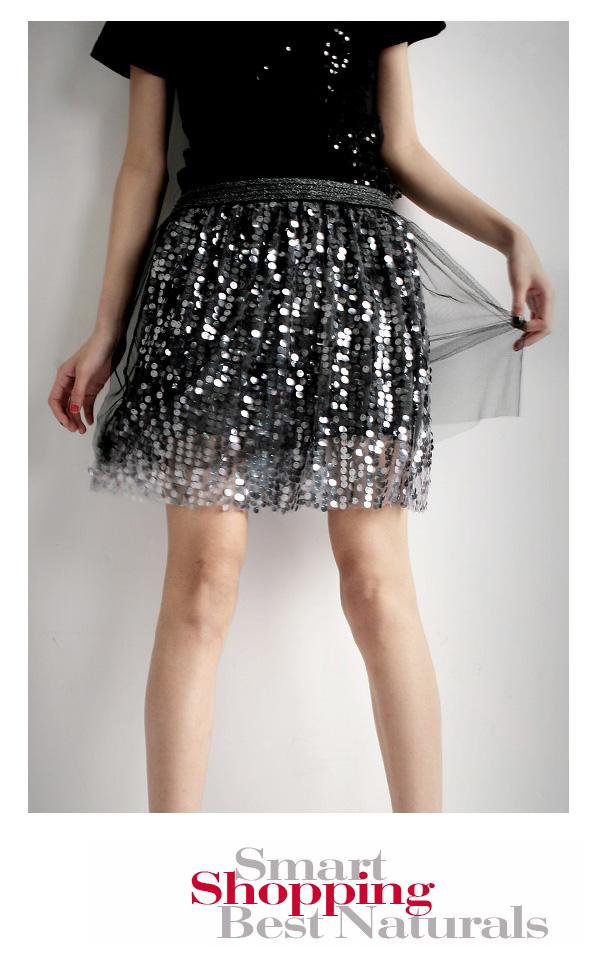 เสื้อผ้าแฟชั่น: กระโปรงปักเลื่อมแพรวพราว