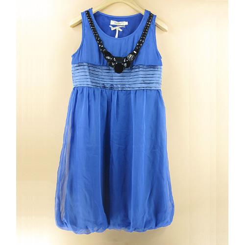 เสื้อผ้าแฟชั่น: เดรสหรูประดับสร้อยสไตล์เกาหลี