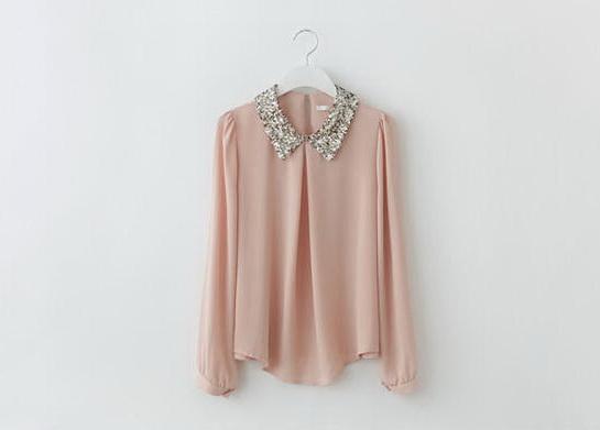 เสื้อผ้าแฟชั่น เสื้อผ้าเกาหลี เสื้อหรูปกประดับเลื่อม