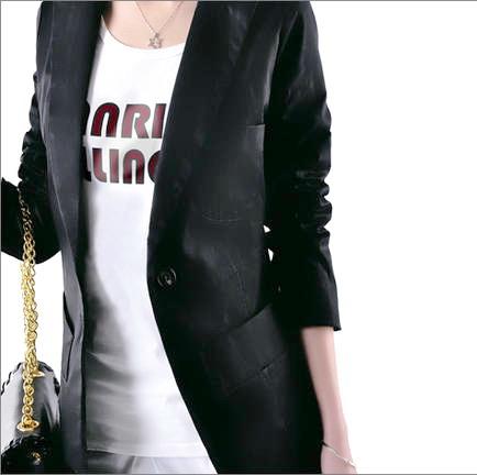 เสื้อผ้าแฟชั่นพร้อมส่ง : สูท slim สีดำ