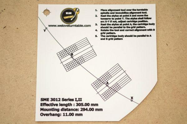 แผ่น PVC Set Up หัวเข็ม SME 3012 Serles I/II (Welove)