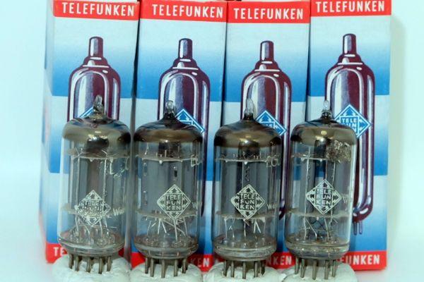 ECC82 Telefunken Ribbed Plate